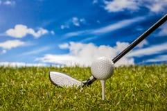 Golf theme with sport stuff Stock Photos