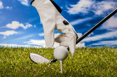 Golf theme with sport stuff Stock Image