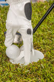 Golf theme with vivid bright colors Stock Photography