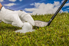 Golf theme with vivid bright colors Royalty Free Stock Images