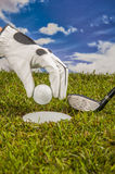 Golf theme with vivid bright colors Stock Photo