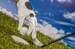 Golf theme with vivid bright colors Stock Photos