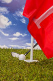 Golf theme with vivid bright colors Stock Images