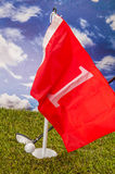Golf theme with vivid bright colors Royalty Free Stock Photography