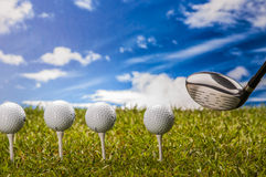 Golf theme with vivid colors Royalty Free Stock Photos