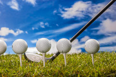 Golf theme with vivid colors Royalty Free Stock Photography
