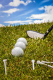Golf theme with vivid colors Royalty Free Stock Images