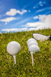 Golf theme with vivid colors Royalty Free Stock Image