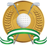 Golf Themed Background - laurel coin Stock Photos