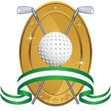 Golf Themed Background - laurel coin Stock Photo