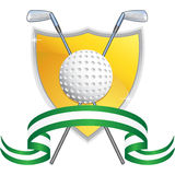 Golf Themed Background - Yellow Shield Royalty Free Stock Photos