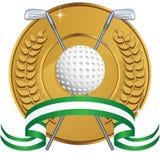 Golf-themenorientierter Hintergrund - Lorbeermünze lizenzfreie abbildung