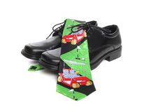Golf Tie and Shoes Royalty Free Stock Image