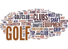 Golf Tip Word Cloud Concept. Golf Tip Text Background Word Cloud Concept Stock Image