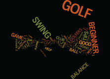 Golf Tips For The Beginner Golfer Text Background  Word Cloud Concept Royalty Free Stock Photos