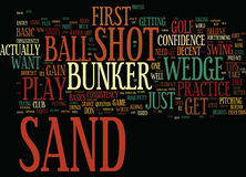 Free Golf Tips How To Play The Sand Shot Word Cloud Concept Royalty Free Stock Images - 97554639