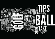 Golf Tips Word Cloud Concept royalty free illustration