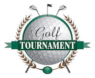 Golf Tournament Clubs Design Stock Photo