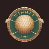 Golf tournament, competition vector logo Royalty Free Stock Image