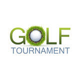 Golf Tournament Design. Concept With The Realistic Hole In One Royalty Free Stock Photo