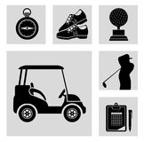 golf tournament design Stock Photography