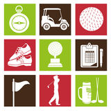 golf tournament design Royalty Free Stock Images