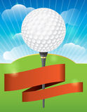 Golf Tournament Design. A nice design background for a golf tournament invitation or various golf designs Stock Photography