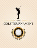 Golf Tournament Event Flyer Illustration Royalty Free Stock Photography