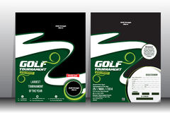Golf tournament  Flyer &  Brochure Template Stock Image