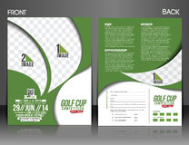 Golf Tournament Flyer Stock Image