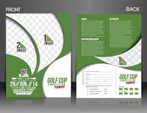 Golf Tournament Flyer Stock Image