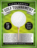 Golf Tournament Flyer Stock Photography