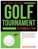 Golf Tournament Flyer Invitation Illustration Stock Images