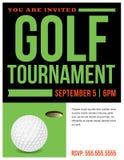 Golf Tournament Flyer Invitation Illustration royalty free illustration