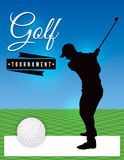 Golf Tournament Flyer Template Illustration royalty free illustration