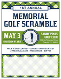 Golf Tournament Flyer Template Royalty Free Stock Images
