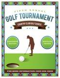 Golf Tournament Flyer Template stock illustration