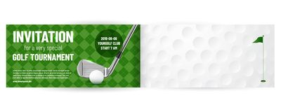 Golf tournament invitation template. With sample text in separate layer - vector illustration vector illustration