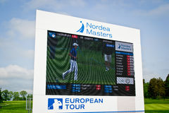 Nordea Masters. Leaderboard from the golf tournament Nordea Masters on the European Tour Royalty Free Stock Photos