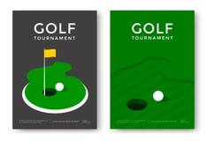 Golf poster design Stock Image