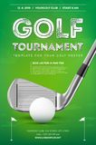Golf tournament poster template Royalty Free Stock Image