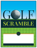 Golf Tournament Scramble Flyer Illustration Royalty Free Stock Photo