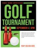 Golf Tournament Template Illustration Stock Image