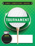 Golf Tournament Template Illustration royalty free illustration