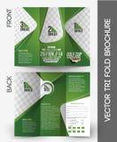 Golf Tournament Tri-Fold Brochure vector illustration