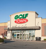 Golf Town Outlet Royalty Free Stock Photography