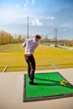 Golf training Stock Photography