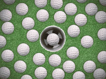 Golf training concept Stock Images