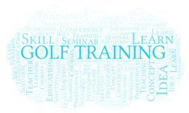 Golf Training word cloud.