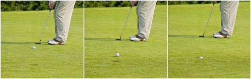 Golf triptic Stock Photo